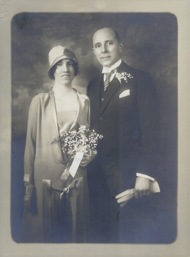 Louise and Arnold Ronnebeck, Wedding, 1926