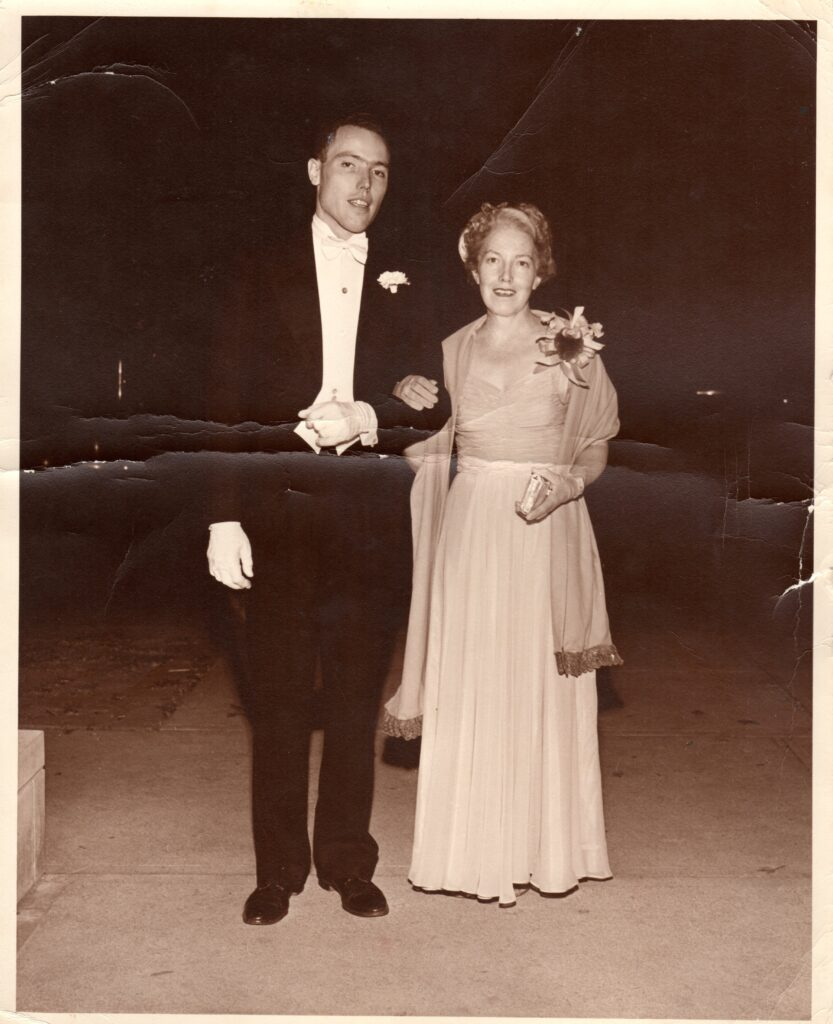 Arnold, Jr and Louise Ronnebeck, 1954